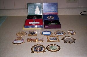 15 WHITE HOUSE HISTORICAL ASSOCIATION CHRISTMAS ORNAMENTS/ OTHERS