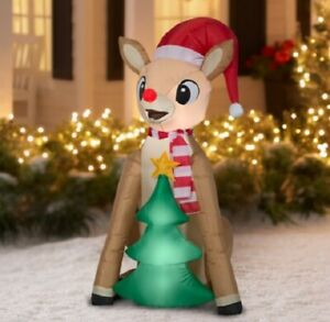 Holiday Time 4.5ft Rudolph Inflatable by Gemmy Industries nib