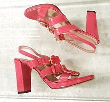 LK Bennett strappy patent leather sandal slingback heel HOT Pink sz 6 eu 36