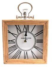 Wooden Vintage/Retro Desk, Mantel & Carriage Clocks
