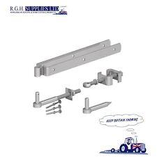 "24"" 24 Inch 600mm Galvanised Adjustable Field Gate Hinge Set Everything You Need"