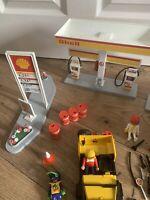 Playmobil Shell Petrol Station Garage Vintage Geobra Set 3437