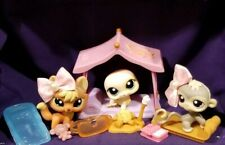 Littlest Pet Shop Snowy Day Orange Fox Grey Monkey Yellow Seal 1028 1029 1030