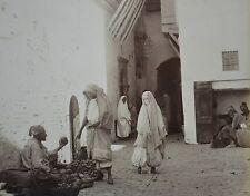 c1880 2x Large Format Albumen Photograph Algiers Interior & Rue Haute Ville