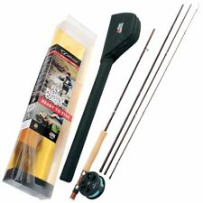 Abu Garcia 4 Piece Diplomat Fly Fishing Combo Kit Rod Reel & WF Fly Line + Tube