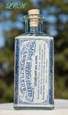 Antique BOTANICAL NEUROPATHIC DROPS aqua bottle LABELED and EMBOSSED
