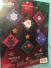 Vintage Bucilla Craft Felt Ornaments Christmas Patchwork Crafting Kit Set Of 6
