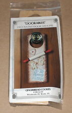 """Gingerbread Cookies"" Ready to Paint / Tole Painting Wood Door Hanger Kit NIP"