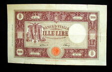 1946 ITALY rare LARGE Banknote GRANDE/M  1000 Lire  VF