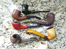 VINTAGE LOT 7 SMOKING PIPE TOBACCO PIPES THE SMOKE WOOD BOWL PIPES ANTIQE LOT