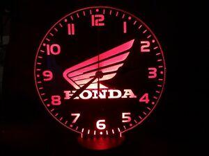 Honda Motorcycle LED neon Clock  engraved on Acrylic