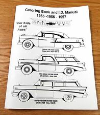 """1955 56 1957 CHEVY COLORING BOOK 48 Pages """"For Kids of All Ages""""  PRINTED in USA"""