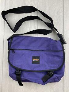 BROOKLYN INDUSTRIES Mens Messenger Cross Body Purple Bag Made USA A+ Condition