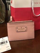 NWT Kate Spade Street Adi for CC-Cash-ID pinkbonnet WLRU 2811 With Shopping Bag