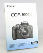 Canon 1000D Digital Camera Manual - German Language Version - New/Unused
