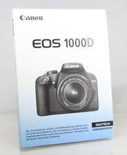 Canon 1000D Digital Camera Manual - German Language Version - New/Unused