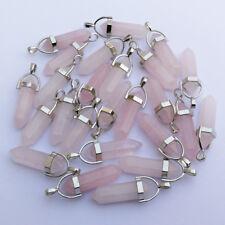 Fashion pink Crystal Stone Point Chakra Healing Pendants 5pcs/lot Wholesale