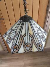 Glass Tiffany Ceiling Light Lamp Shade Pair Uplighter
