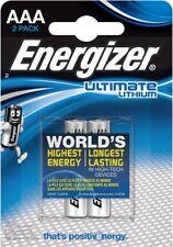 2 Batterie Pile ENERGIZER Lithium AAA Litio Ministilo 1,5v L92 FR03 LR03 sc 2035