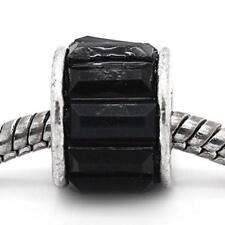 Black Round Spacer Bead Charm for european snake chain charm Bracelet