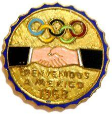 1968 Olympic Games Mexico Original Collectible Pin Badge Button RARE!