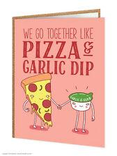 Brainbox Candy funny 'Pizza & Garlic Dip' birthday greeting cards humour cheeky