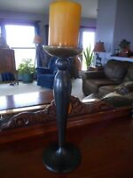 "Candle Holder 13"" tall Farmhouse Flea Market"
