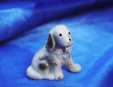 Vintage porcelain Lovely Cocker Springer Field English Spaniel dog w loop *