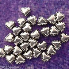 Antique Silver Alloy Metal Heart Metal Beads 24 Pieces 5mm #0295