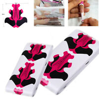 100pcs Butterfly Nail Art Forms Guide Tip Extension Sculpting UV Gel Sticker