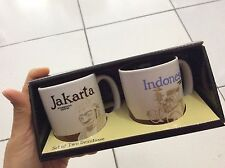 Starbucks Indonesia - Jakarta deMitasse icon mug 3oz x 2 pcs , 2016 limited MIT