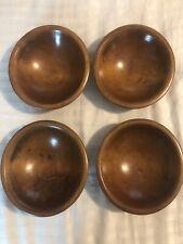 """Vintage Thurnauer Turned Wood Bowls, Set of 4-6"""" Salad Bowls"""