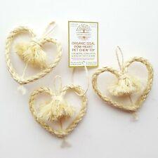Organic Sisal Pom-Heart Pet Chew Toy for Rabbit Guinea Pig Small Pets & Birds