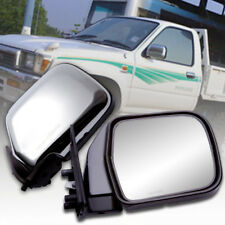 MIRROR PAIR CHROME MANUAL SIDE DOOR FOR TOYOTA HILUX MIGHTY-X RN85 1989-1997