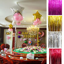 2PCS 1M*10CM Metallic Tinsel Curtain Foil Wedding Birthday Hens Party Decoration