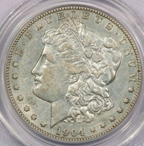 1904-S 1904 Morgan Silver Dollar PCGS AU50