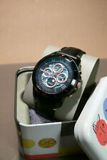 fossil mens gents wrist watch automatic stainless black case and dial me3138