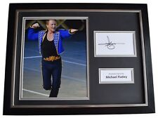 More details for michael flatley signed framed photo autograph 16x12 display irish dance coa