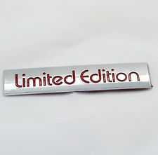 3D Chrome Red Lettering Limited Edition Badge Emblem Trunk/Side Fender Sticker