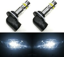 LED 50W 886 H27 White 5000K Two Bulbs Fog Light Replacement Upgrade Lamp OE
