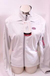 New Sugoi Women's RS 220 Jacket Large White Cycling Bike Wind Water Resistant