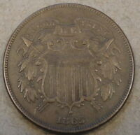 1865 Two Cent Piece XF
