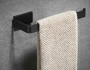 Bathroom Black Towel Ring Stainless Steel Wall Mounted Hanger Holder Rack Bar