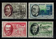 (b22) timbres France n°1095/1098 oblitérés année 1957