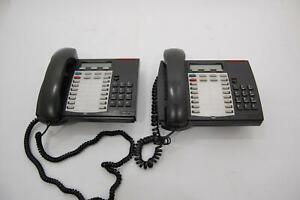 Lot of 2 Mitel Superset 4025 Backlit  Business Office Phone Desk 9132-025-200-NA