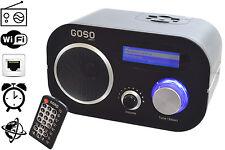 GOSO Internet FM Radio Music Player & Alarm Clock WiFi/Ethernet 1400+ Stations
