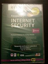 Neue Kaspersky Lab Internet Security PC MAC Android iOS Handy 3 Geräte CD ROM