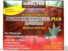 Kirkland Signature Maximum Strength HYDROCORTISONE 1% Plus 8oz, Anti-Itch Cream