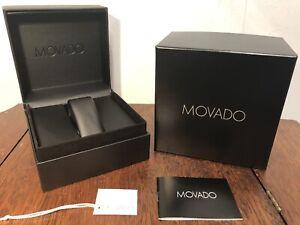NWT MOVADO Watch Presentation Gift Box Black