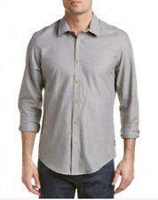 Ben Sherman Soho Large Slim Fit Button Down Grey Spotted Polka Dot Large L